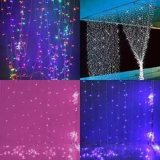 Kerstverlichting LED Gordijn 3x3 meter
