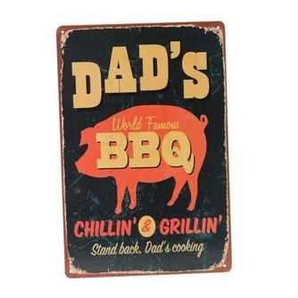 Metalen Vintage Poster BBQ