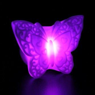 LED Nachtlampje Vlinder op Batterij