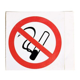No Smoking Waarschuwingsstickers