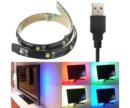 USB Ledstrip 30 CM Waterproof