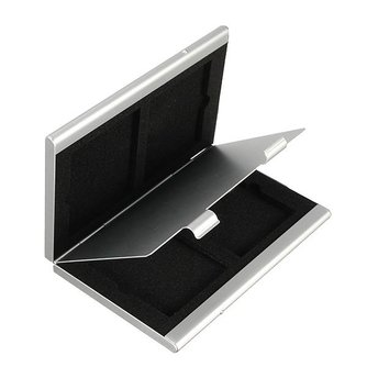 Geheugenkaart Opbergen in Aluminium Opbergdoosje