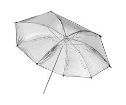 FOTGA Flitsparaplu in Zilver/Zwart 83 cm