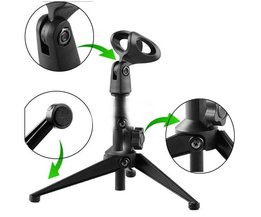 Verstelbare Microfoon Tafelstandaard met Clip Houder