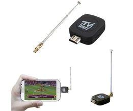 Mini micro USB DVB-T TV Tuner voor Android Telefoon/Tablet
