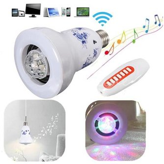 2-in-1 Bluetooth Speaker met LED Lamp