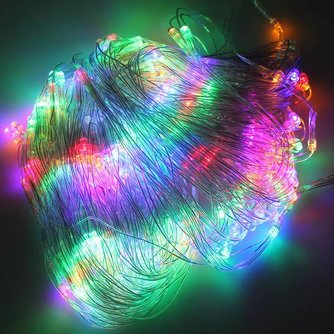 Veelkleurig LED Net met 200 lampjes 2x3 Meter