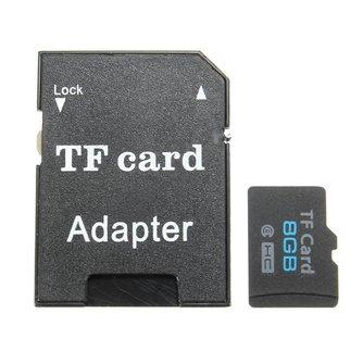 8GB Micro SD Kaart met Adapter