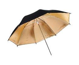 Flitsparaplu Zwart/Goud voor Fotografie