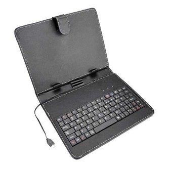 Leren Hoes & Keyboard voor 8 Inch Tablet