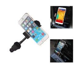 Universele Autohouder Mobiele Telefoon met USB Oplader