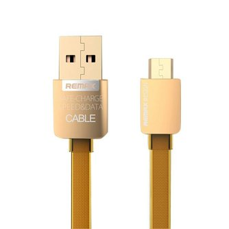 Remax 2.1A Gouden Micro USB Kabel