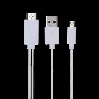 Micro USB naar HDMI HDTV Kabel voor de Samsung Galaxy S5 I9600