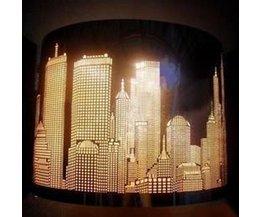 Vintage Muurlamp RVS met Skyline