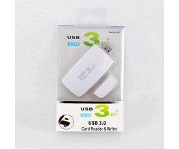 USB 3.0 Geheugenkaartlezer voor CF/SD