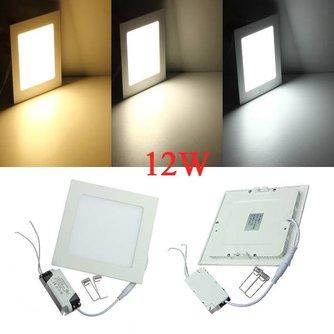 12W Vierkante LED Inbouwspot