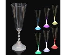 Kleurrijk LED wijnglas
