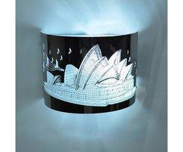 Wandlamp Vintage met Sydney Motief