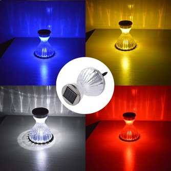 Gekleurde Buitenverlichting Op Zonne-Energie