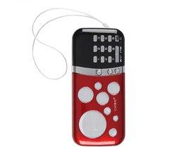 Draagbare PN-99 Mini Kaartradio met Speakers