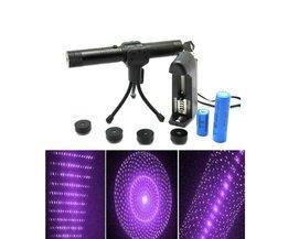 Paarse Pointer met 5 Laser Patronen