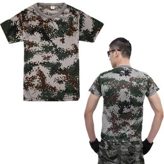 Camouflage T -Shirt Leger