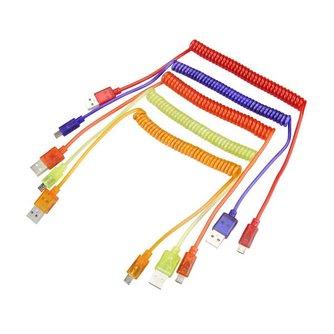 Krulkabel USB Naar Micro USB