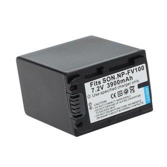 Beveiligde SON.NP-FV100 3900mAh 7.2V Li-ion Oplaadbare Batterij