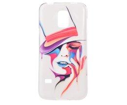 Samsung S5 Mini Cover met Vrouw