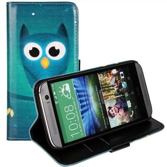 Uil Flipcase Hoesje voor de HTC One M8