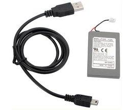 Oplaadbare Batterij en Kabel voor PS3 Controllers