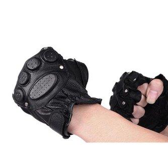 Leren Wielrenner Handschoenen