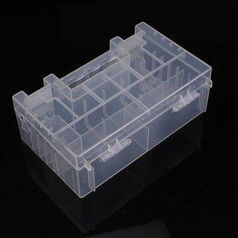 Doorzichtige Batterij Box voor AA AAA en C Batterijen