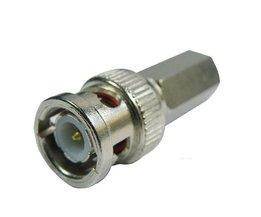Draaidop Connector voor Coax Kabels