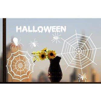 Spinnenweb Halloween Stickers