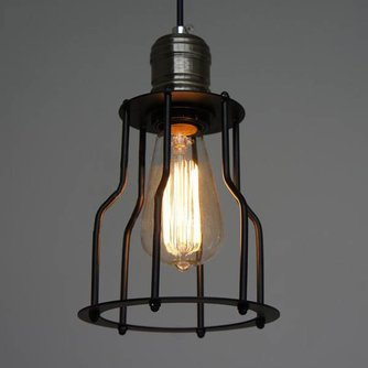 Vintage Lampenkap Ijzeren Kooi