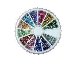 Nail Art Steentjes Glitter in 12 Kleuren