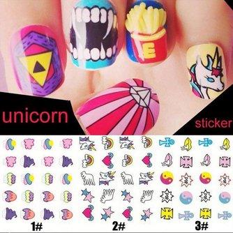 Nail Art Stickers met diverse Patronen