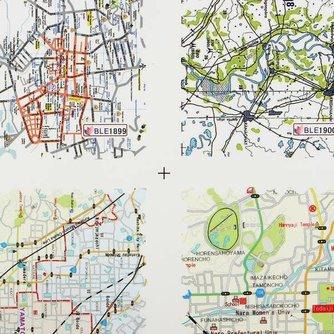 Stickers Landkaart voor Nail Art
