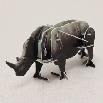 Puzzel 3D Plastic Neushoorn