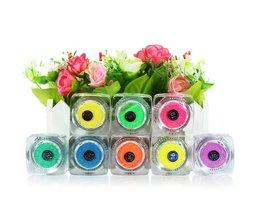 Fluorescerende Glitter Poeder voor Nagels