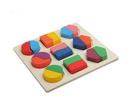 Speelgoed Puzzel met Houten Blokken