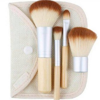 Make-Up Kwastenset met Bamboo Handvatten