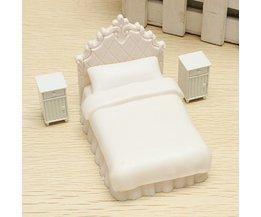 Poppenhuis Miniaturen: Eenpersoonsbed
