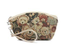 Retro Teddybeer Make-up Tas