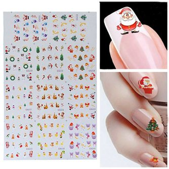Water Decals met Kerstdesign