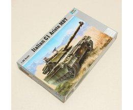 Bouwpakket Italiaanse Militaire C1 Ariete Tank 1:35