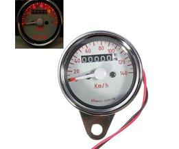 Snelheidsmeter met Kilometerstand voor de Motor