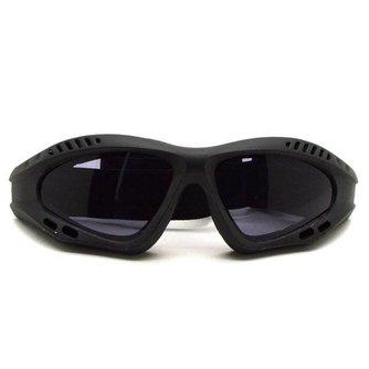 Motorbril met Grijze Glazen