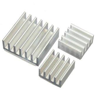 Aluminium Koeling Kit voor Raspberry Pi ( 3 stuks)